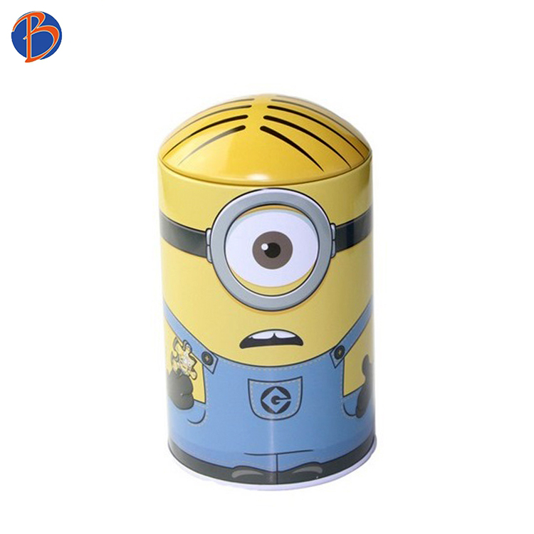 Bodenda High quality cylinder tea gift candy tin storage box box for bottles