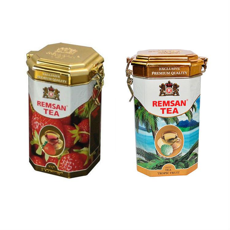 Metal Tea Cans High-Grade Lock Tinplate Coffee Candy Storage Box Tin Can