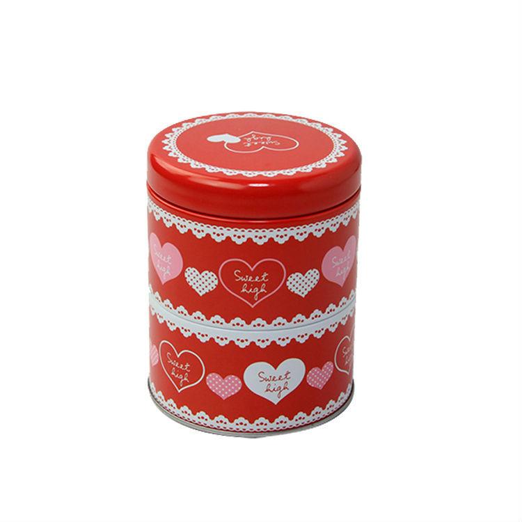 Cute Metal Candy Trinket Tin Jewelry Iron Pill Tea Coin Storage Round Box Case double layer round tin box