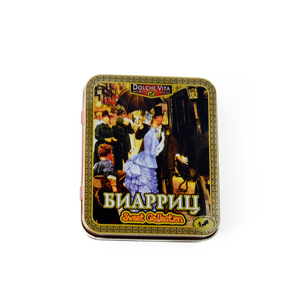Good production capability factory custom small matte metal tin box cardswith labeling