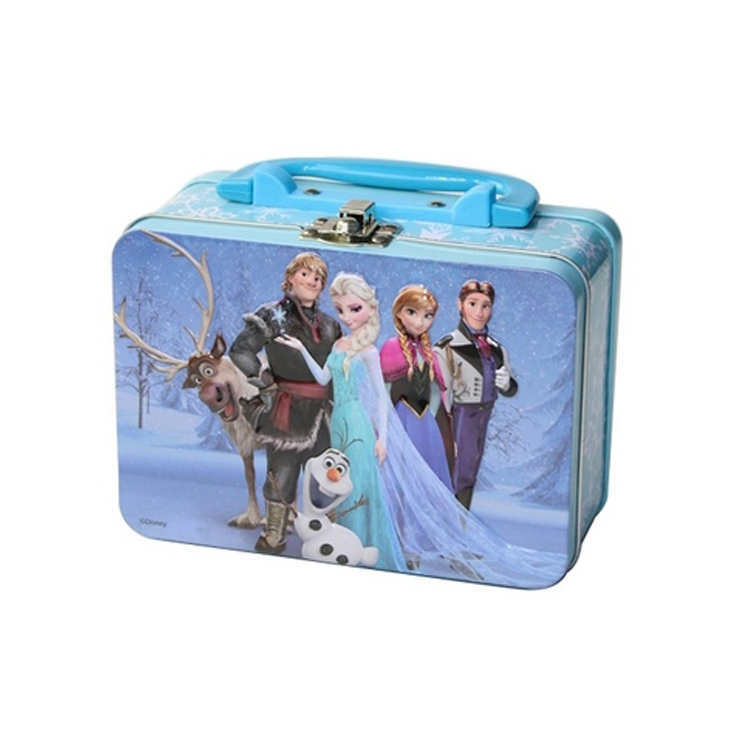 Bodenda High quality gift cookie cartoon metal gift box with handle