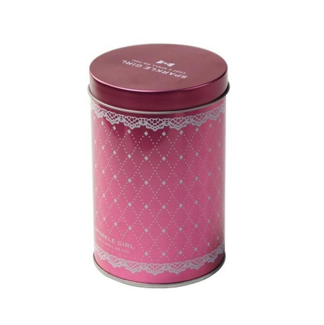 Bodenda customized round metal tea tin packaging box metal containers