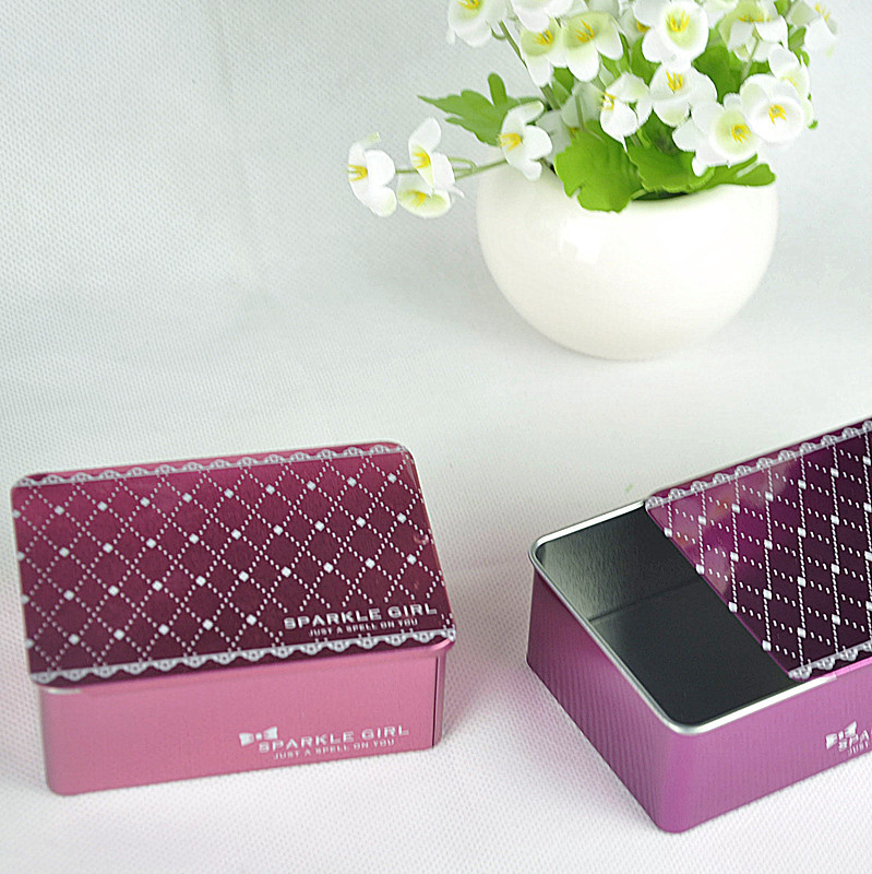 metal tin soap packaging box with sliding top
