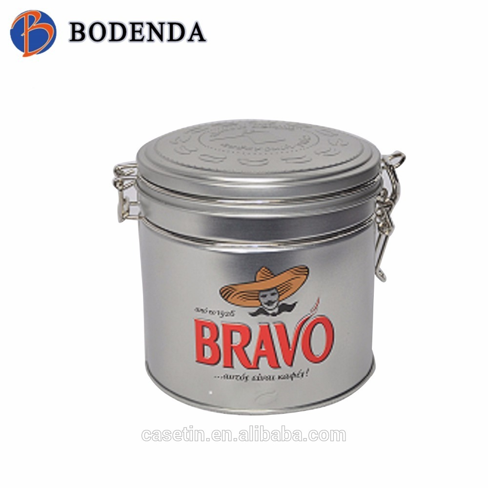 Wholesale Round Airtight Tea Tin with Wire Clasp