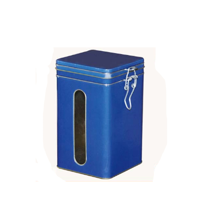 New Products tea Packaging Metal Tin Box with windows