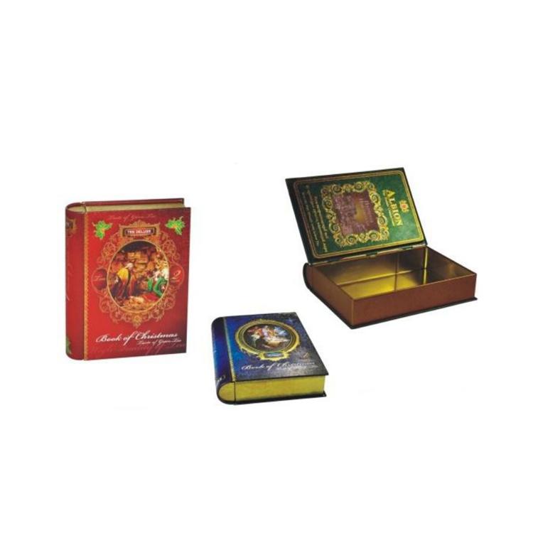 Bodenda book shaped decorative vintagecandy tin boxfor cookies