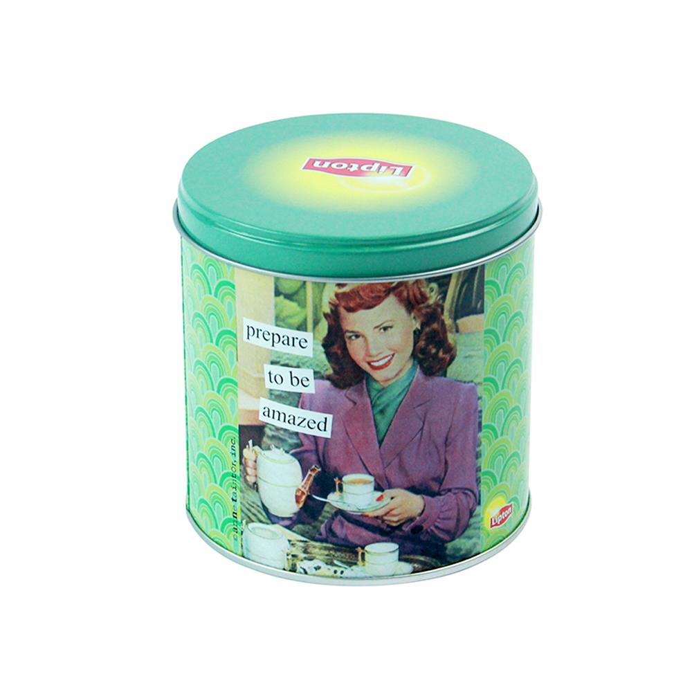 Bodenda Food Grade CustomRound Metal Tin Cans Tea CaddiesGift Tin Box Packaging For Candy Chocolate