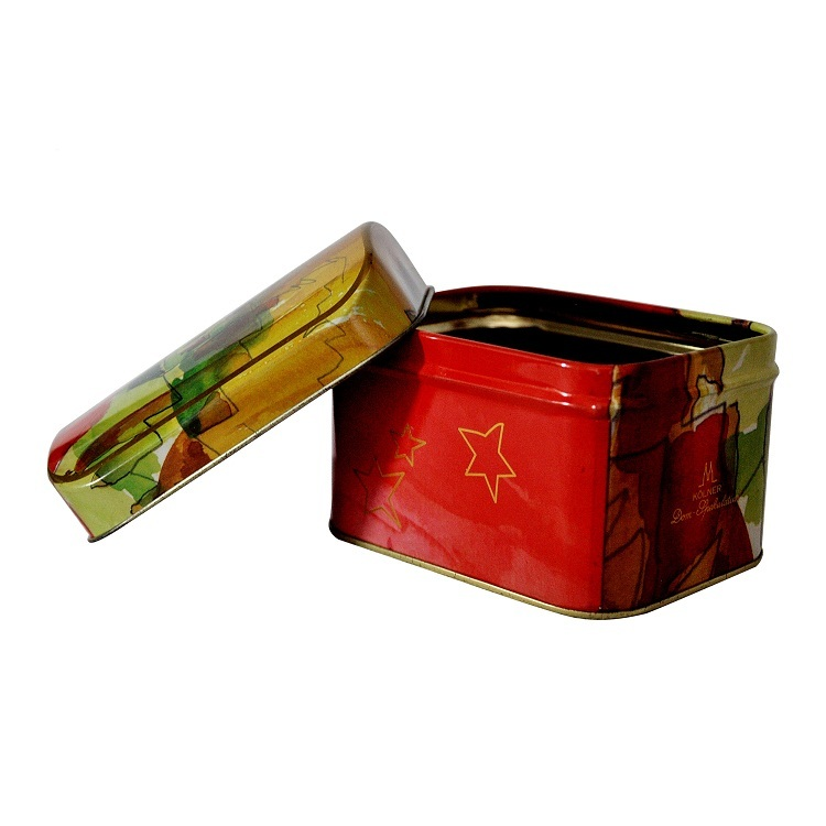 Vintage Exquisite Decorative Gift Case Christmas Style Tin Storage Box Metal Chocolate Biscuit Candy Container