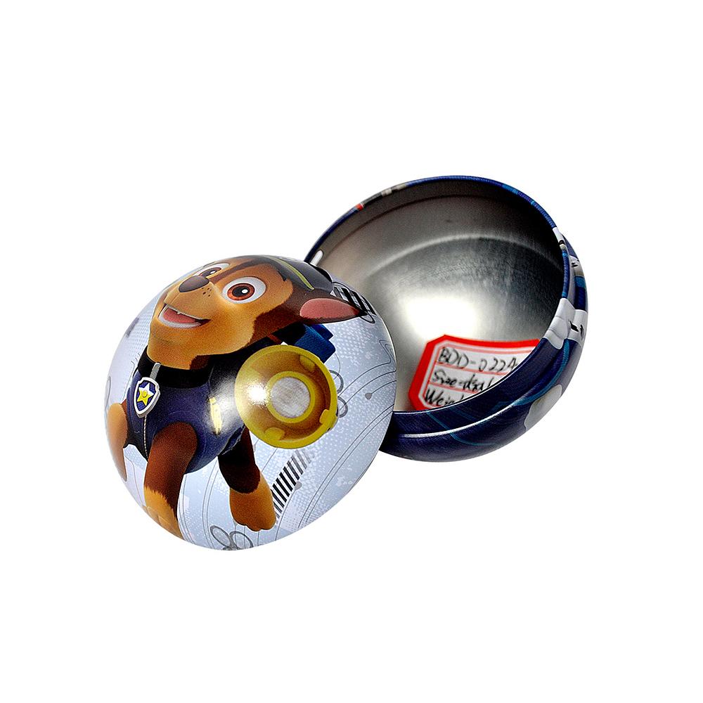 Bodenda food grade ball shape metal chocolate packaging box customized printingwedding gift box
