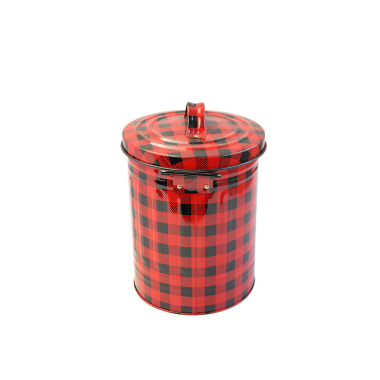 Bodenda High quality round shape metal customtin gift boxes packaging with handle