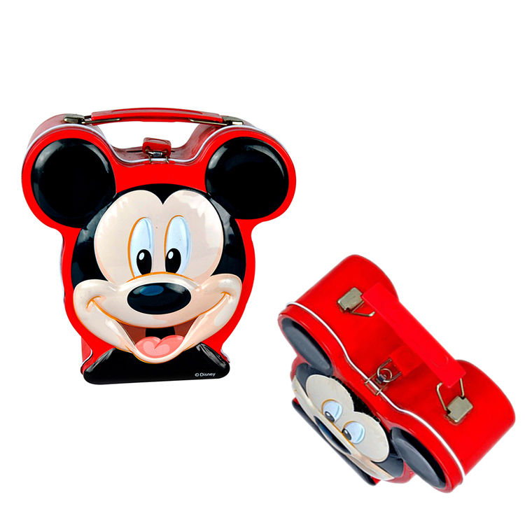 Portable large mickey mouse coin bankmoney box with handle