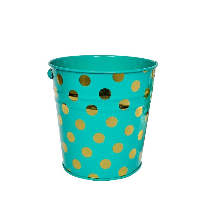 Durable Good quality packing boxes recycling trash cans spray paint cans Bucket shape container packing box with handle