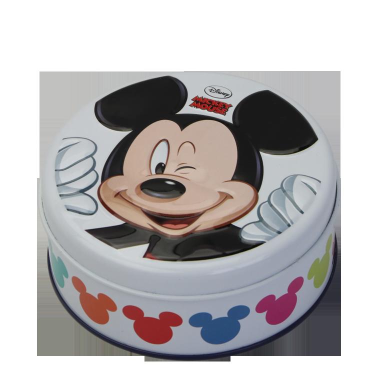 Bodenda food grade empty round shape cartoon candy small meta tingiftbox custom chocolate tin can