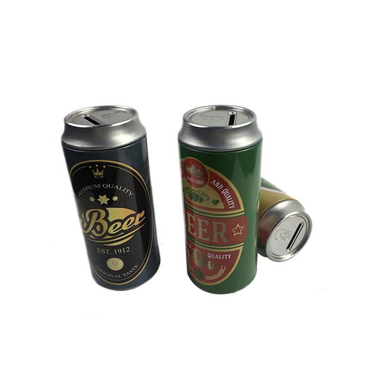 Bodenda High quality beer bottle tin box new design OEM customized round tin coin box