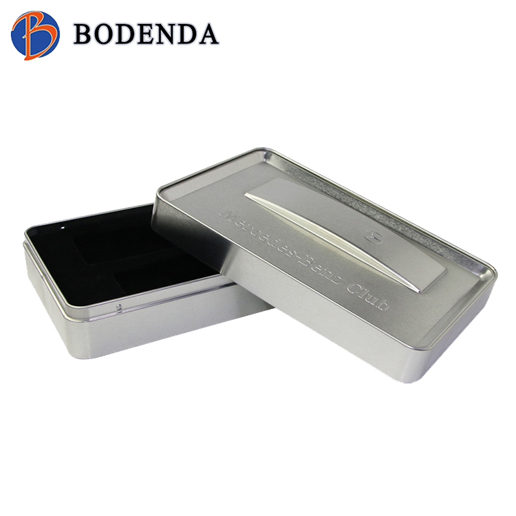 Watch tin box with sliding lid