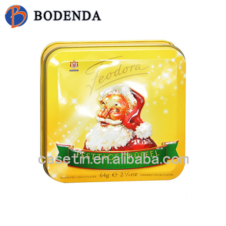 shining eye-catching high-end special golden bow-front coffee metal tea tin
