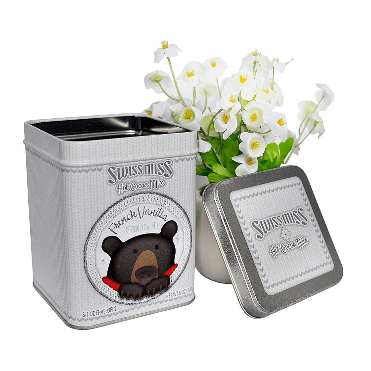 SquareMetal Wedding Candy Tin Boxes for Sale