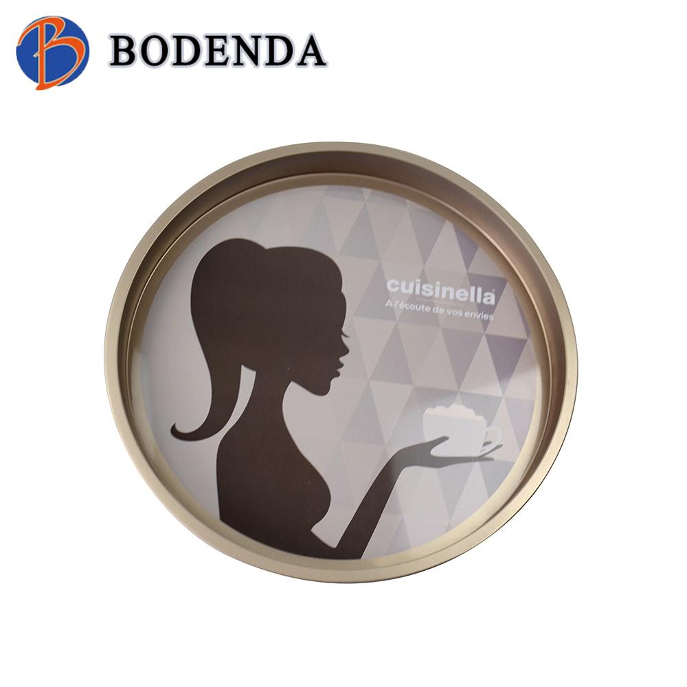 round beer tin tray / metal serving tray / beer tray