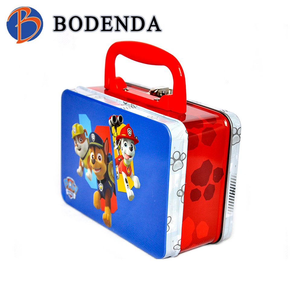 custom cute rectangular metal lunch box