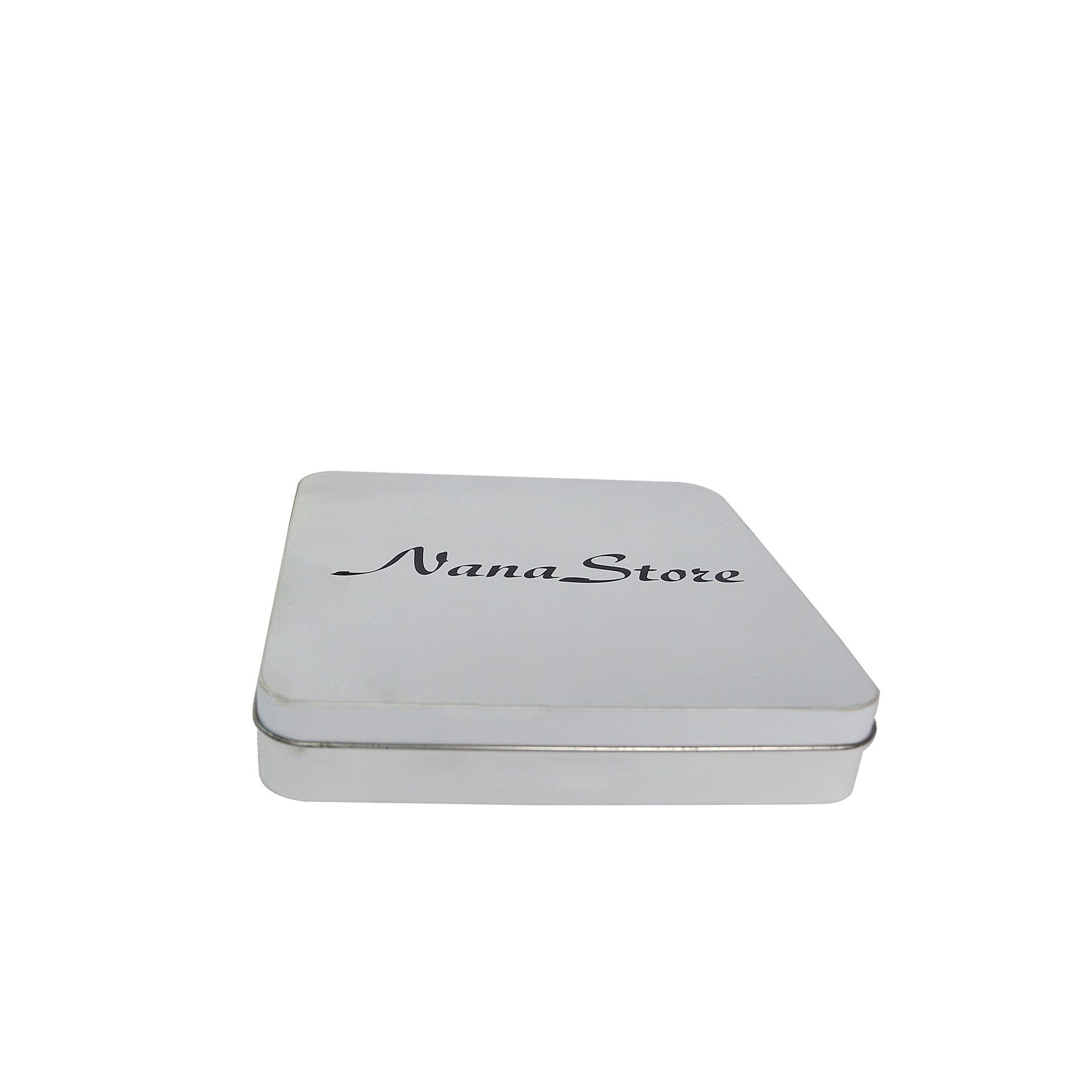 Bodenda high quality square tin containers small size tin packaging metal box customized printing powder container