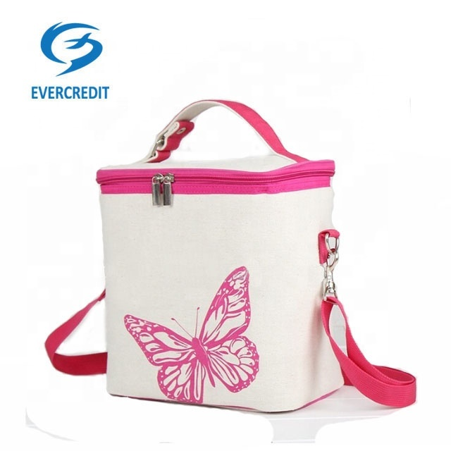 Aluminium FoilInsulated lunch Cooler Bag Small Round Canvas Cooler Bags