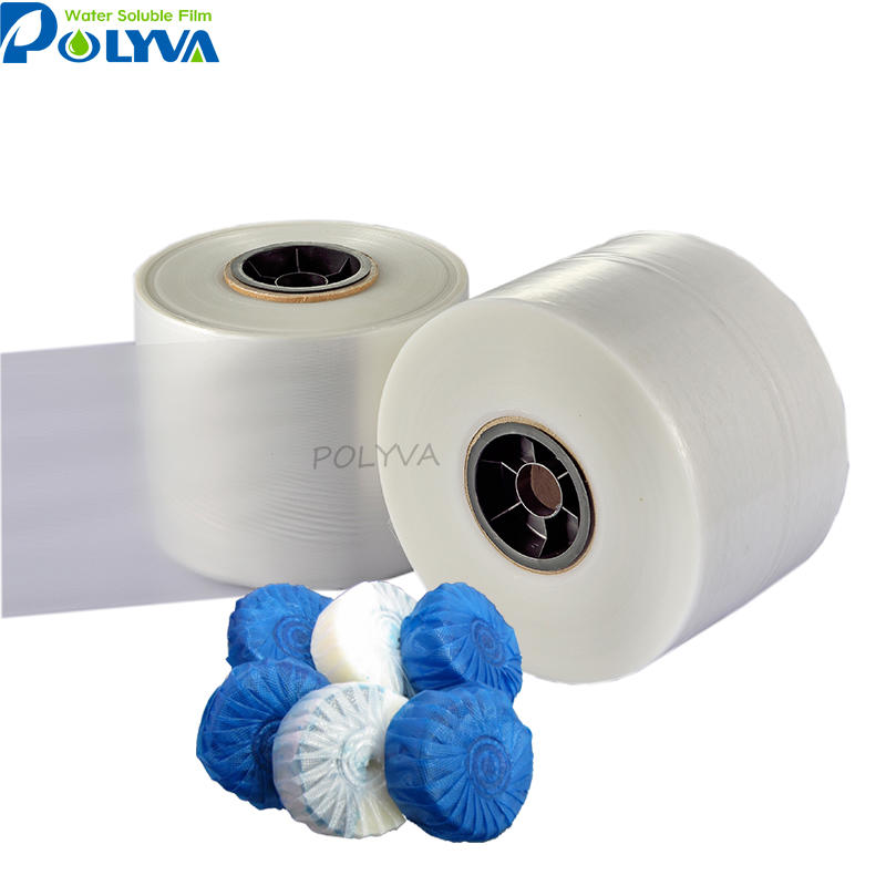 Eco-friendly degradable pva water soluble film for blue toilet cleaner