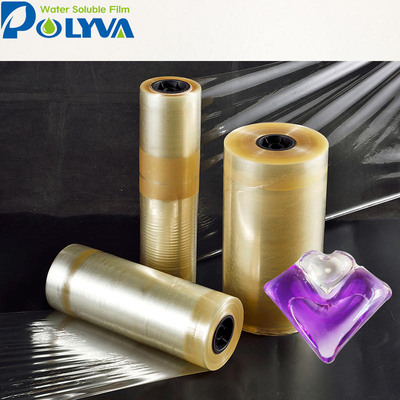 factory direct sales fast dissolving high quality PVA packing water soluble film