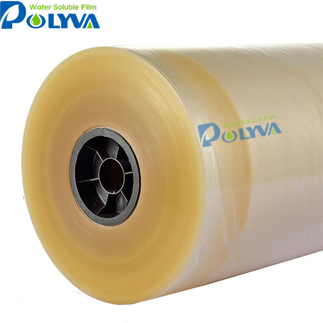 2018 China factory price water dissvoling plastic film cold water soluble film