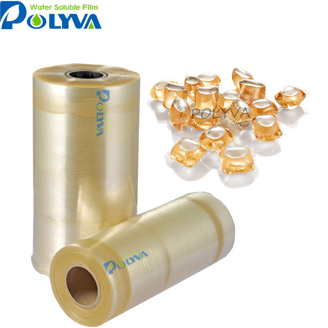 POLYVA high quality laundry detergent dose/pods packing film PVA cold water soluble film Hospital laundry/washing bag
