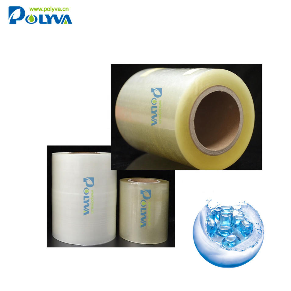 Polyva no residual PVA water soluble film for packaging laundry pods