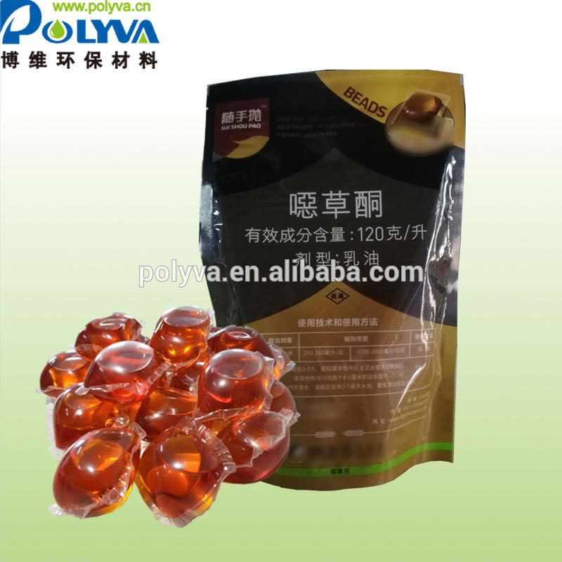 POLYVA Water soluble fertilizer eco-friendly missible oil agricultural pesticide packaging water soluble film manufacturer China