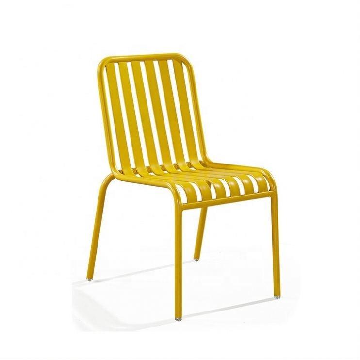 New design green aluminium outdoor chair restaurant chair dinner chair