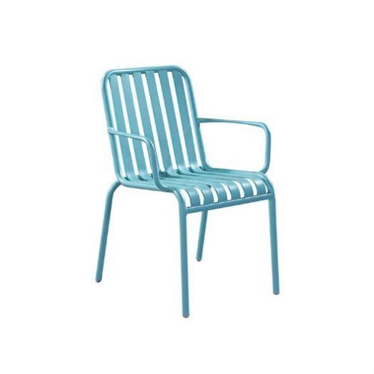 MCI new design modern aluminum garden leisure chair dinning chair with armrest