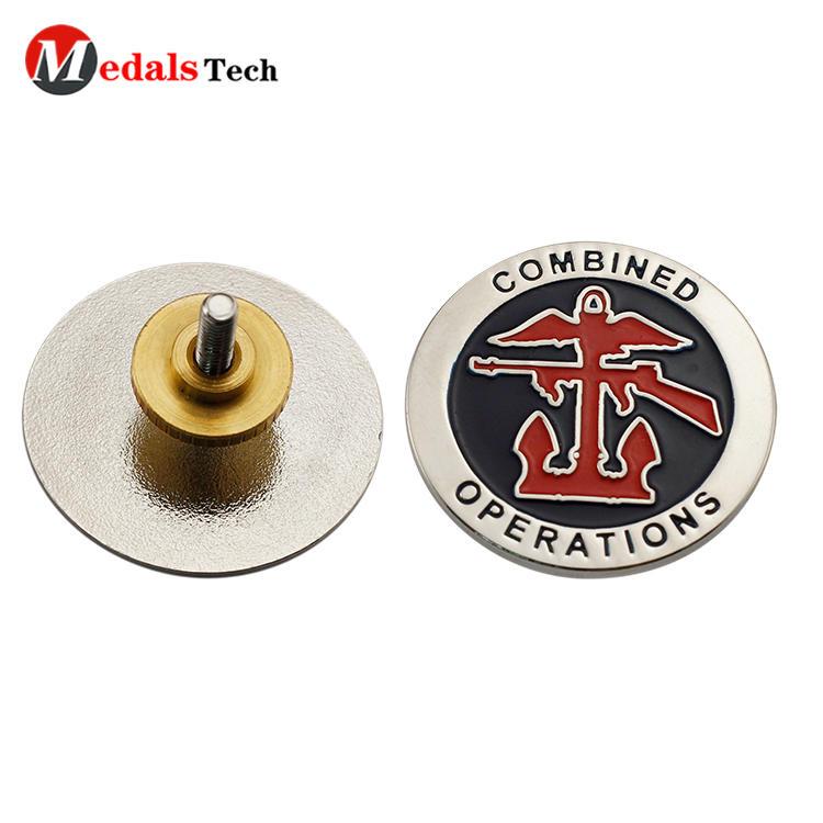 Wholesale cheap handbag gold plating metal tag pin badge