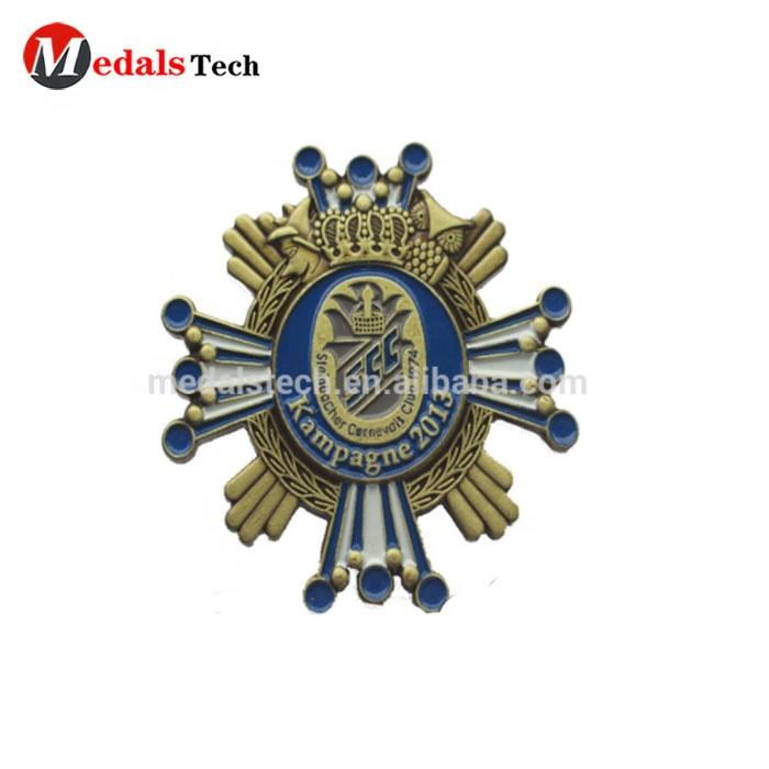 Wholesale stamping Technique custom made antique religious lapel pins with butterfly pins