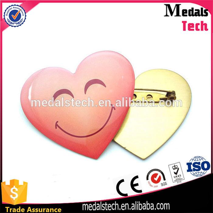 Custom popular silver plated metal cute cartoon lapel pin badge for sale