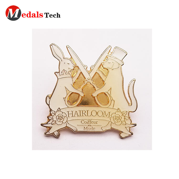 High quality custom design hard enamel clothingpin lapel pin