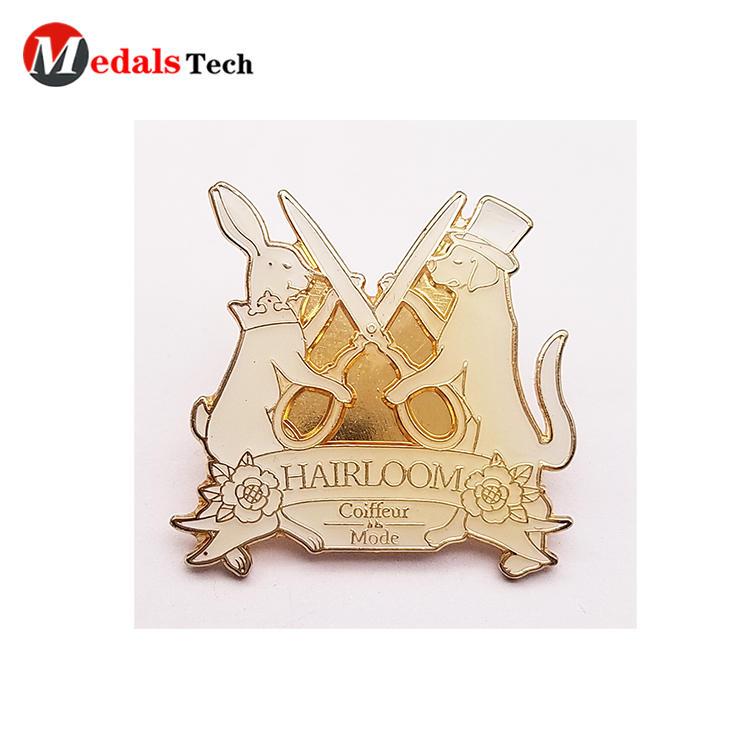 High quality custom design hard enamel clothingpin lapel pin