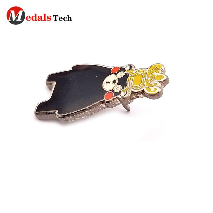 Promotional cartoon clothingmetal gift pin badge for kids