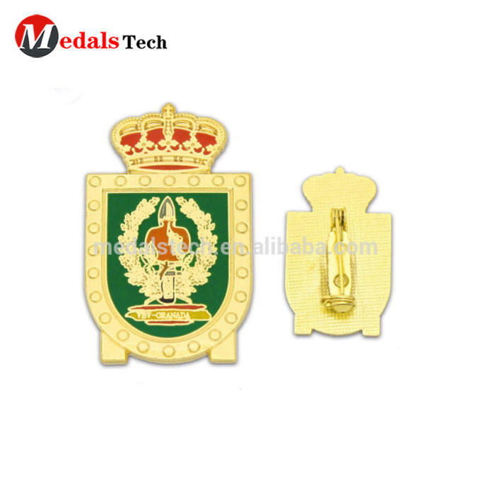 Promotional nice quality custom security champion event metal gold lapel pin