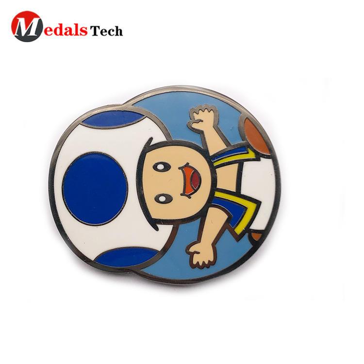 Promotional cheap metal soft enamel cartoon pins unique badge