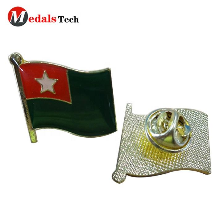 Wholesale custom epoxy sticker with printing variety peace national flag metal lapel pin for National day souvenir