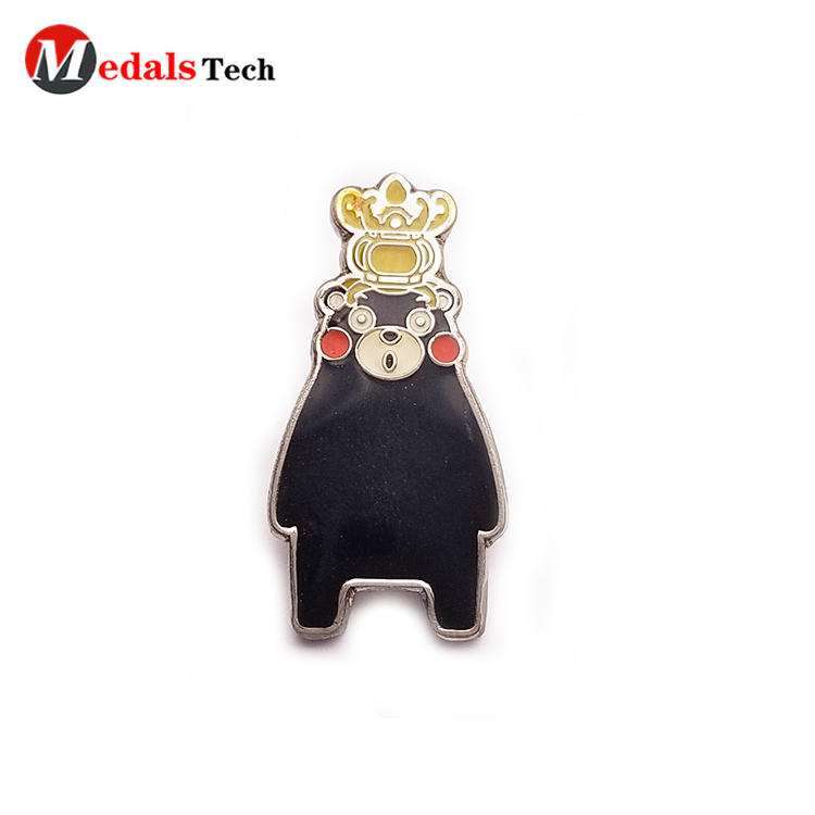 Promotional cartoon clothingmetal gift pin badge for kids