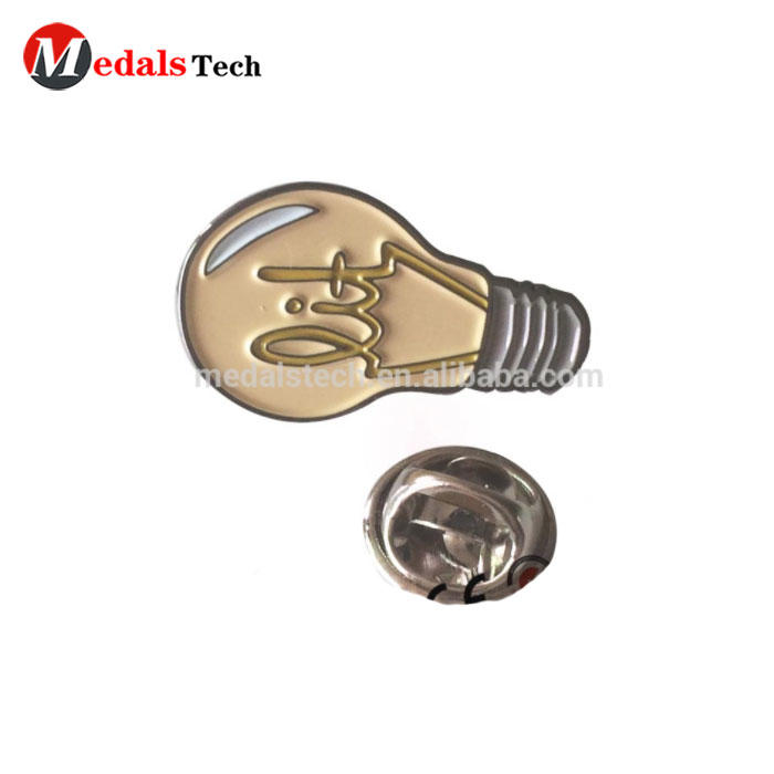 OEM service black nickel plated color filled custom iron bulb lapel pins
