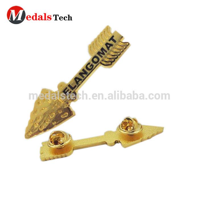 Commemorative zinc alloy iron brass material guliter shape music lapel pins