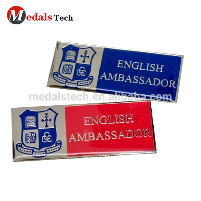 Best price factory price wholesale custom your own design printing metal reap name badge