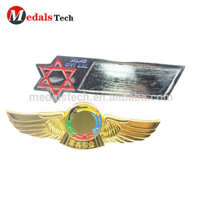 Best price factory price wholesale custom your own design printing metal reap name badge