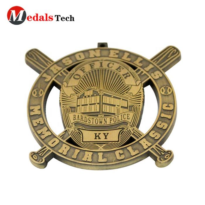 Popular custom gold plated color filled 3D cut outrecognition trading engraved baseball lapel pin badge