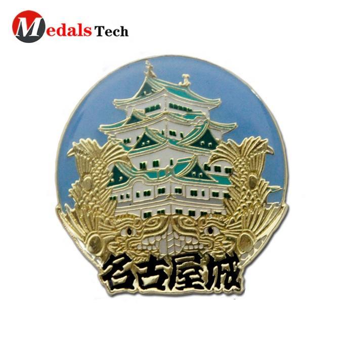 Professional zinc alloy custom hard enamel foumous Janpan Nagoya building badge