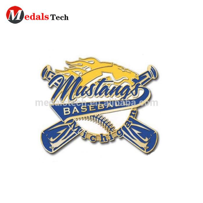 OEM Wholesale custom soft enamel baseball sports lapel pins with magnet